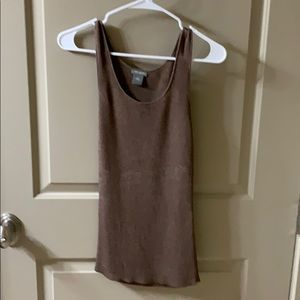 Ann Taylor brown heavy/thick tank